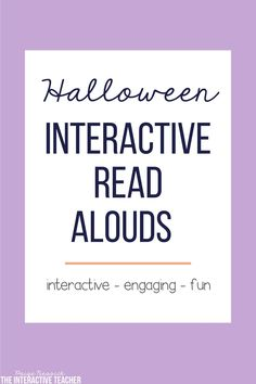 Halloween and October Interactive Read Alouds! They includes lesson plans, in-depth comprehension, retelling worksheets, vocabulary, mini-charts and more. Perfect for K-2. This bundle is fast and easy to plan and is just print and go. Your kids are going to love these! These Halloween read alouds and activities is exactly what you need to keep kids learning before Halloween.