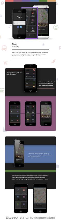 Step - Find Your Way by Tom Sayer, via Behance *** #app #gui #ui #behance