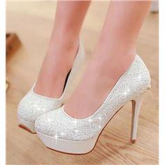 Vintage Celebrity Blue Paillette Stilette Heel Popular Prom Shoes