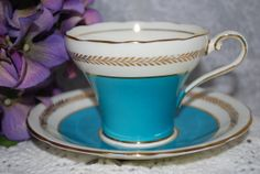 AYNSLEY /Vintage Bone China Tea Cup and Saucer / by HoneyandBumble, $42.00