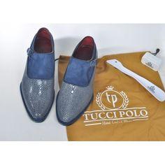 TucciPolo Genuine Blue Stingray Mens Luxury Shoe #oxfordshoes #Handmadeshoes #bespokeshoes