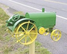 image of tractor mailbox - Google Search