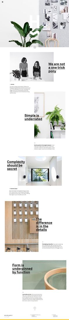 Beautiful and simple web layout.