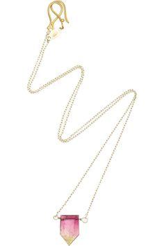 Halleh 18-karat gold bio tourmaline necklace NET-A-PORTER.COM