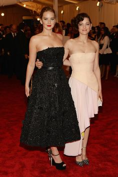 Jennifer Lawrence and Marion Cotillard Met Gala 2013