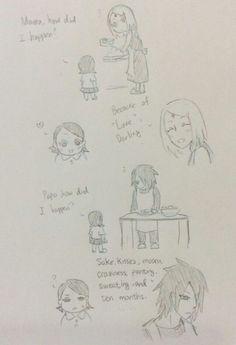 How did Sarada happened Sasusaku Doujinshi, Sasuke Uchiha Sakura Haruno, Naruko Uzumaki, Sakura And Sasuke, Naruto Shippuden Anime, Naruto And Sasuke, Anime Naruto, Anime Manga, Naruto Cute