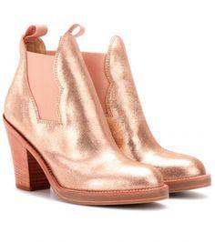 metallic booties... love!