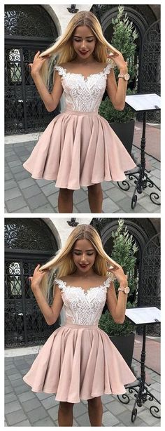 Sale Suitable A-Line Homecoming Dresses Outlet Feminine Pink Homecoming Dress, Homecoming Dress A-Line Grad Dresses Short, Cute Homecoming Dresses, Hoco Dresses, Junior Dresses, Dance Dresses, Cheap Dresses, Pretty Dresses, Formal Dresses, Halter Dresses