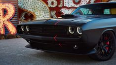 Car beauty. Dodge Shakedown Challenger at the Neon Museum Las Vegas.