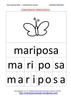 Conciencia fonológica trabajando con la segmentación con nombres de animales - en español. Word Study, Grade 1, Classroom, Math Equations, Station 1, Words, Activities For Kids, Preschool Worksheets, Phonological Awareness