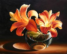 Lilies Ligh, Oil painting