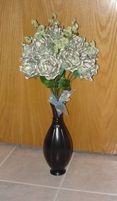 Origami money roses bouquet