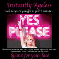 * INSTANLY AGELESS - Look 10 years younger in only 2 minutes ! Helps to minimize fine lines, dark circles, scars & bags under your eyes. Instant results in just 2 minutes and last 6 - 8 hours ! See the video: Click this PIN Open ! Dark Circles Under Eyes, Under Eye Bags, Happy Skin, Any Book, Spanx, How To Get Rid, Good Skin, Sensitive Skin, Exercises