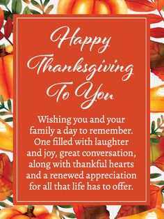 Send Free Thankful Hearts - Happy Thanksgiving Card to Loved Ones on Birthday & Greeting Cards by Davia. It's free, and you also can use your own customized birthday calendar and birthday reminders. Thanksgiving Card Messages, Happy Thanksgiving Images, Thanksgiving Messages, Thanksgiving Greetings, Birthday Greeting Cards, Birthday Greetings, Card Birthday, Thankful Heart, Grateful