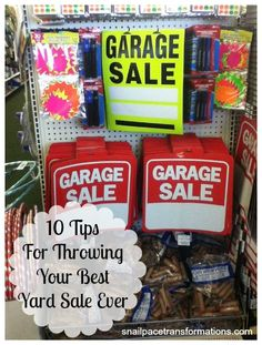 Trendy Ideas For Yard Sale Items Garage Garage Sale Organization, Garage Sale Tips, Organizing, Garage Sale Pricing, Garage Ideas, Good News, Sell Your Stuff, Things To Sell, Yard Swing