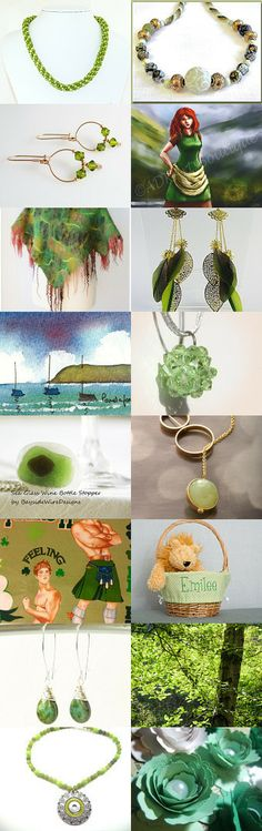 Green, green, and more green! by Irina on Etsy--Pinned with TreasuryPin.com