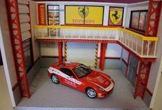 diorama-atelier-garage-1-18-Ferrari-For-car-1-18-ITALIA-SCUDERIA-photo-camion