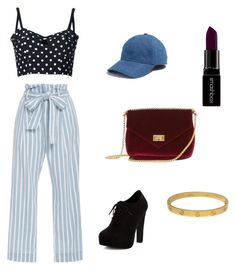 TROUSERS1 by sandrine-sandy-ashimwe on Polyvore featuring Dolce&Gabbana, Frame Denim, New Look, Cartier, Madewell and Smashbox