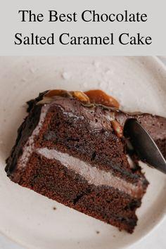 Caramel Ganache, Salted Caramel Chocolate Cake, Chocolate Caramels, Best Chocolate, Baking Ideas, Baking Recipes, Cake Recipes, Dessert Recipes, Chocolate Cream Cheese Frosting