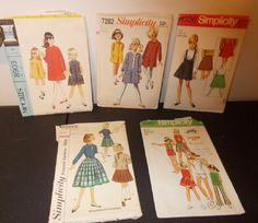 Inventory 48 Lot of 5 Vintage Patterns Girls Size 10