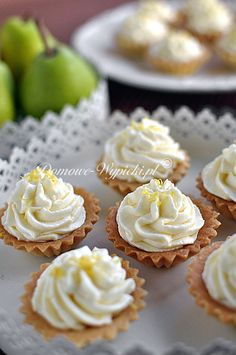 Cheese Tarts, Mini Tart, Polish Recipes, Lemon Curd, Mini Cupcakes, Sweet Tooth, Deserts, Dessert Recipes, Food And Drink