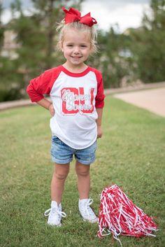 KIDS OU block O baseball t-shirt