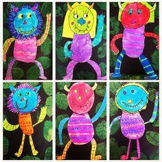 First grade Wild Things! Happy Friday! #firstgradeart #wherethewildthingsare #artteachersofinstagram #artclass