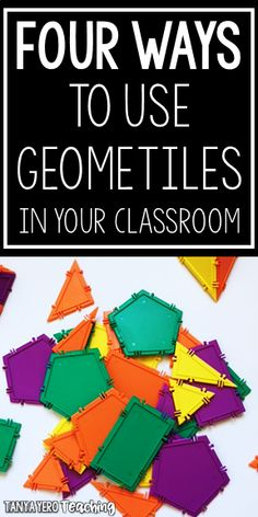 I was fortunate enough to partner with a wonderful company that makes a math manipulative called Geometiles. After spending some time exploring this kit with my students, my favorite aspect of these tiles is their Math Classroom, Classroom Organization, Classroom Management, Classroom Decor, 1st Grade Math, Math 2, Third Grade, Teaching Kindergarten, Teaching Ideas