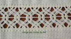 Hand Embroidery Stitches, Crochet Top, Macrame, Sewing, Costume, Linen Tablecloth, Embroidered Towels, Straight Stitch, Craft