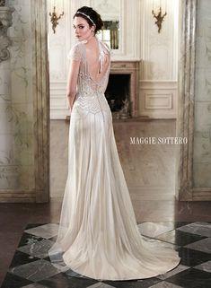 Romantic gatsby back | Astra Bridal | Maggie Sottero Ettia |