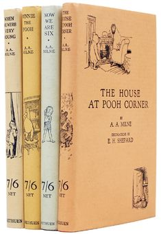 Caption for Photo 3: Fine first edition copies of all four Pooh books.
