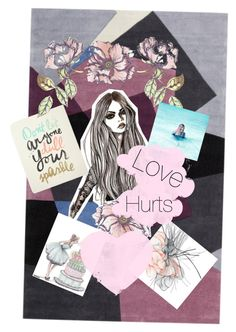 """Love Hurts"" by iloveharrystyles2 ❤ liked on Polyvore featuring art"