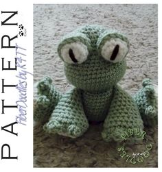 """~ Crocheted with materials listed, models which have been produced are approximately 10"""" in height. However, depending on your crochet style, this measurement may/will vary. ~"""