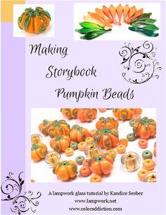 Making Lampwork Storybook Pumpkin Beads