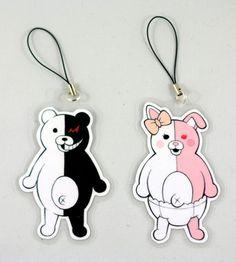Dangan Ronpa Monobear & Monomi Keychain/Charms or Magnets on Etsy, $2.98