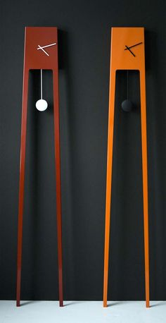 Colorful and attractive clock furniture products manufactured by Finnish designer Ari Kanerva.