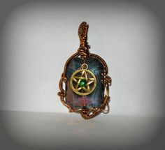 Bronze wrapped Pentacle Pendant by WitchsChamber on Etsy
