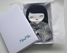 Bag Japanese Doll Unique Handmade Beautiful by NinuMiluBagDolls