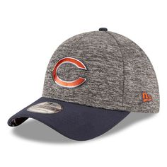 b14bc4b9ae5 Chicago Bears New Era Youth Draft 39THIRTY Flex Hat - Heather Gray   ChicagoBears Fitted Caps