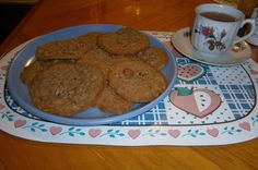 Easy One Bowl Nutty Butterscotch Cookies:  Made With Toasted Rolled Oats