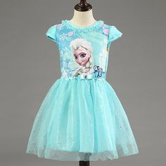 Fashion Dresses For Kids Girl Dress Summer Brand Toddler Girls Clothes Lace Sequins Princess Anna Elsa Dress Snow Queen Halloween Party Role Play Costume Party Dresses Girls From The_select, $5.76| Dhgate.Com
