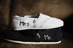 Mr. and Mrs. Toms! Love this idea!!