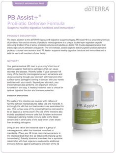 Probiotic Supplement doTERRA PB Assist+ 30 Capsules - My Natural Family