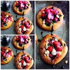 Sweet Strawberry Basil And Balsamic Pizzas...