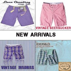New Arrival vintage style shorts in the hottest colors for spring!