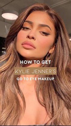 Kylie Jenner Makeup Routine, Kylie Jenner Eyes, Maquillage Kylie Jenner, Kylie Jenner Makeup Tutorial, Kylie Jenner Lipstick, Kylie Makeup, Simple Eye Makeup, Natural Makeup, Classy Makeup