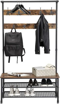 Welded Furniture, Industrial Design Furniture, Iron Furniture, Steel Furniture, Furniture Design, Rustic Shoe Rack, Multipurpose Furniture, My Ideal Home, Room Setup