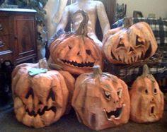 Paper Mache Halloween Pumpkins and a Centaur – – Ultimate Paper Mache Halloween Projects, Holidays Halloween, Spooky Halloween, Halloween Pumpkins, Happy Halloween, Spooky Scary, Halloween Parties, Fall Projects, Outdoor Halloween