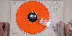 Back To Vinyl the Office Turntable, feel desain app kontor dj.