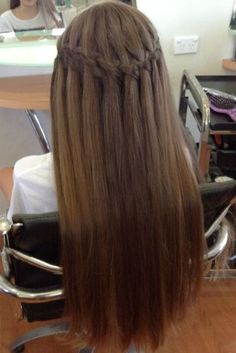 The Waterfall Braid Look For Straight Hair